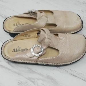 Alegria Glitter Leather Clog 7.5 - 8